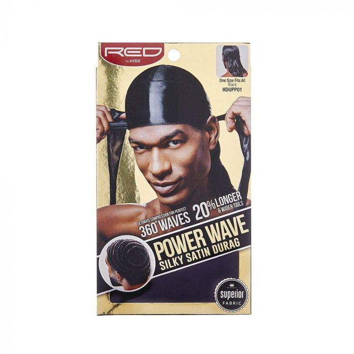 DURAG POWER WAVE BLACK Red By Kiss