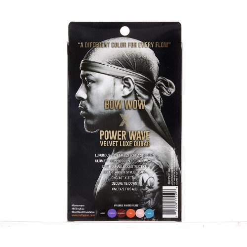 POWER WAVE VELVET DURAG BLACK AND WHITE