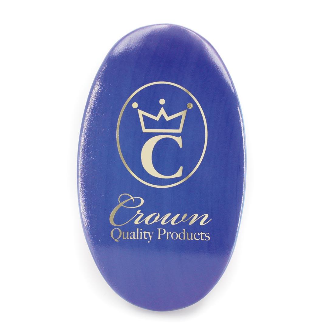 360 Gold Caesar Brush – Royal Blue – Medium Bristle face
