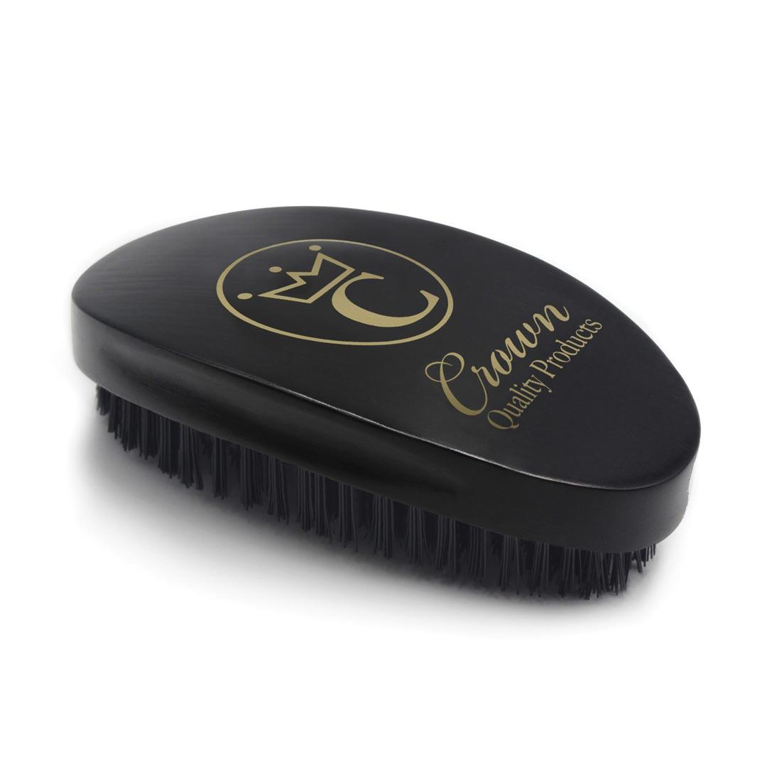 360 Gold Caesar Brush – Onyx Black – Hard Bristle présentation