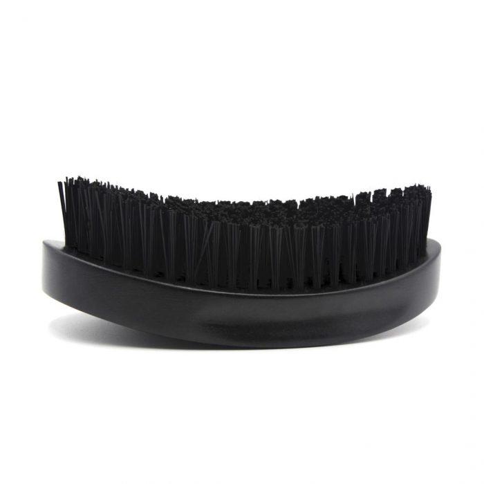 360 Gold Caesar Brush – Onyx Black – Hard Bristle dessous