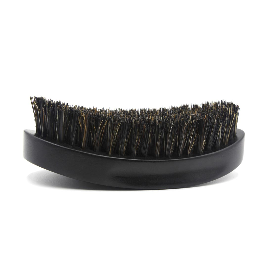 360 Gold Caesar Brush – Onyx Black – Medium Bristle dessous