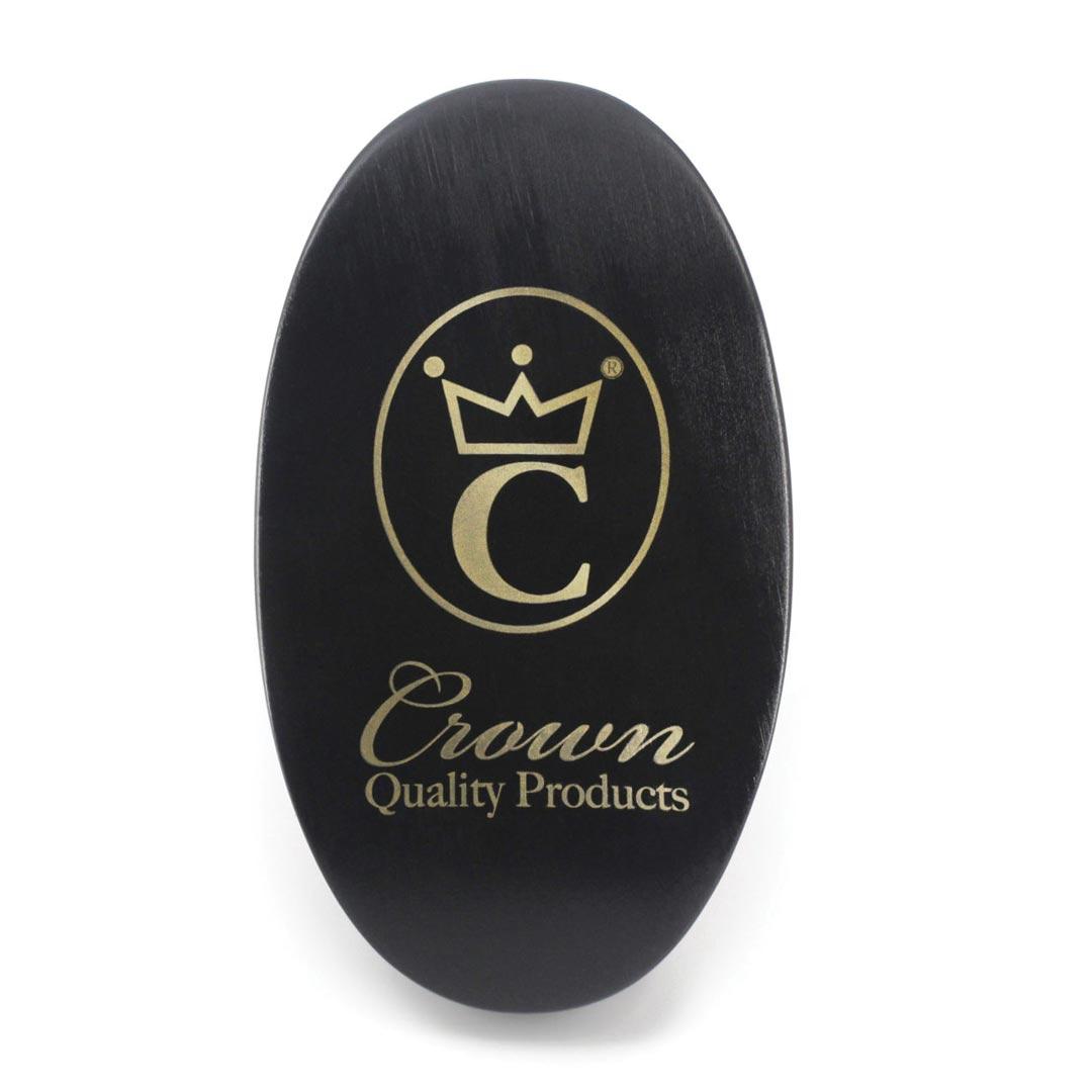 360 Gold Caesar Brush – Onyx Black – Hard Bristle face