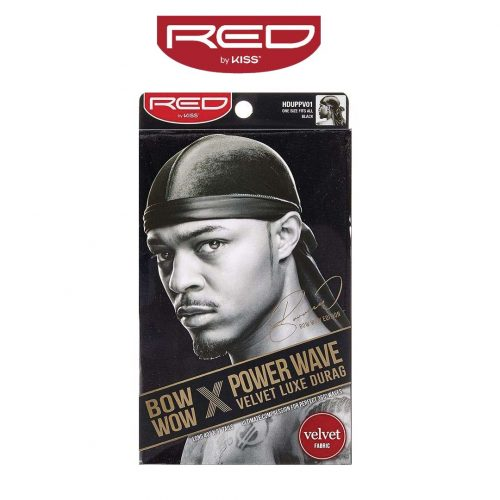 durag noir red by kiss