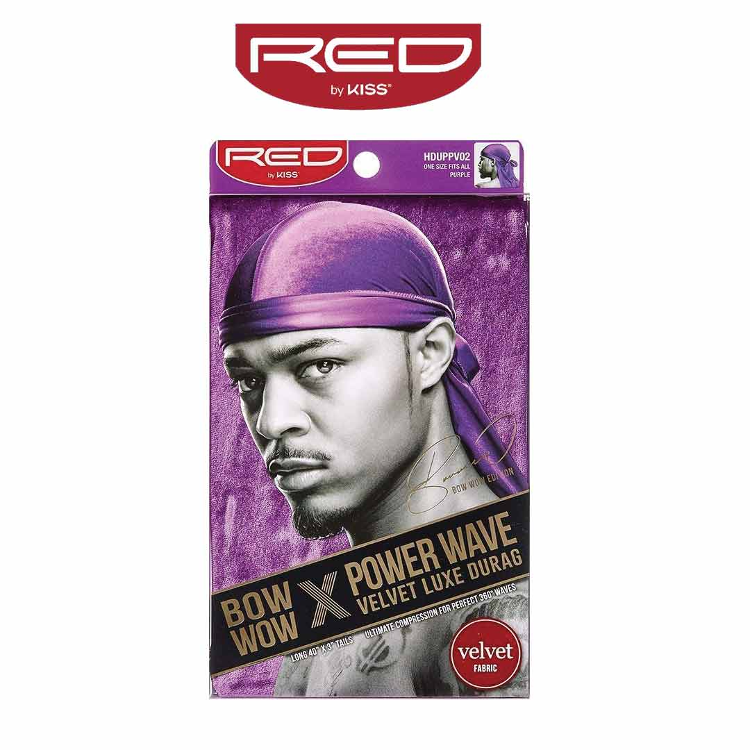 Durag Velvet Deluxe Bow Wow X Red By Kiss Purple 360 Waves