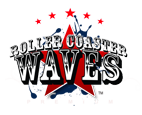 logo roller coaster waves